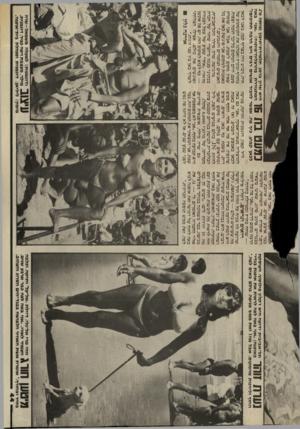 העולם הזה - גליון 2437 - 16 במאי 1984 - עמוד 44   111ד 1  ¥ל ך תל״אביבית ידועה היא ז׳קלין פילוסוף, העוסקת 11111 1 1 1 1 /1גאוסנה. :אני גאה לפה לראות את אוסנת בגד*׳ החוף וליהנות מהמקום. אבל מהן זאת ממש מגיפה,