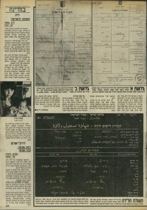 העולם הזה - גליון 2458 - 9 באוקטובר 1984 - עמוד 47 | במדינה דת המתחך הישראלי לרב בצפון יש רעיון ברפובליקה האירית, בדרום, הקהילה פורחת 3000 .היהודים, המתרכזים בעיקר בדאבלין הבירה, מעורים במשק וגם בפוליטיקה האירית