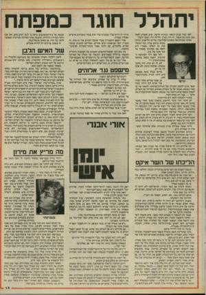 העולם הזה - גליון 2466 - 5 בדצמבר 1984 - עמוד 15   יתהדר ח1גר כמפתח לפני כמה שנים רכשתי מכונית חדשה. ימים מעטים לאחר מכן נהגה בה אשתי. זה היה בערב. הלילה היה גשום וחשוך. בפינה שכוחת־אל בשכונת־פלורנטין בדרום