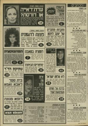 העולם הזה - גליון 2524 - 15 בינואר 1986 - עמוד 3 | המעצר שהיכה את המדינה בתדהמה: האם דרסה חווה יערי (בתצלום) את התיירת, בגלל 50 אלף דולר, או שרק ראתה כיצד היא נדרסת -ושתקה: מדוע השתיק בעלה, אהוד, את הסניגור ולא