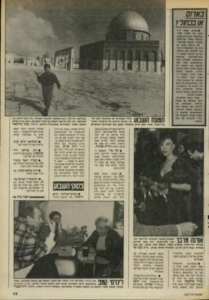 העולם הזה - גליון 2525 - 22 בינואר 1986 - עמוד 13 | צילמה: רחל