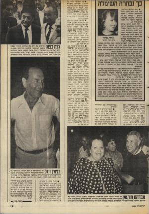 העולם הזה - גליון 2551 - 23 ביולי 1986 - עמוד 13 | כך נבחרה השימלה • ביום השלישי. החל מה שעה תשע וחצי בערב, החלו מתאספים אנשים ~ חלקם ידועים -בביתה של ה- אופנאית שושנה גן־צור. המיספר הסופי של המת כנסים היה .14