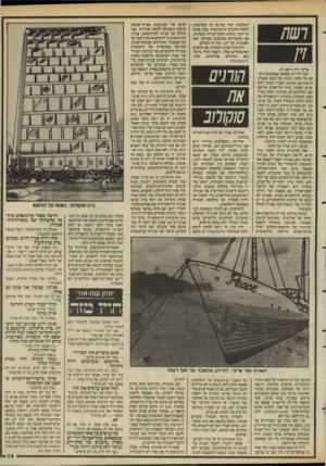 העולם הזה - גליון 2586 - 25 במרץ 1987 - עמוד 19 | הקלטות, חדר שלישי זה תקליטיה, והחדר הרביעי זה המישרד. ככה, פחות או יותר, נראית תחנת־שידור מקומית. את המשדרים ממקמים בכניסה, ואת האנטנות על הגג. ככה זה בעולם.