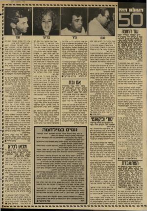 העולם הזה - גליון 2593 - 13 במאי 1987 - עמוד 28   העוו! ס ה 1ד שו החוצה הרב שמואל אבידור הכהן עבד ב״העולם הזדד ב שנות ה־ ,50 במשך תשע שנים. היה פר־שן סולימי. כלומר: מביא סיסד דים, מציע נושאים לכתבות אך לעולם