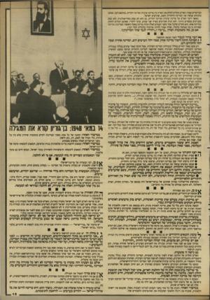 העולם הזה - גליון 2642 - 20 באפריל 1988 - עמוד 15 | המייסדים אמרו: האו׳ם החליט לחלק את הארץ בין מדינה ערבית ומדינה יהודית. בהתאם לכך, אנחנו מקימים עכשיו את המדינה היהודית הזאת, שתיקרא ישראל. כאשר דיבר האדם על