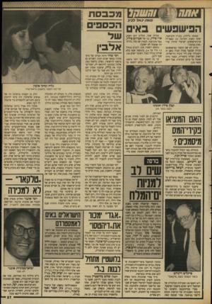 העולם הזה - גליון 2642 - 20 באפריל 1988 - עמוד 28 | !חשחר מכבסת אתח< הפישפשים באי בצומת גלילות, בבניין הרב־מכר, יפתח בשבת הקרובה ( 23 באפריל) שוק־פישפשים ישראלי שיהיה קרוי ״שוק בצומת״. מדוע לא שם הקשור בפישפשים?