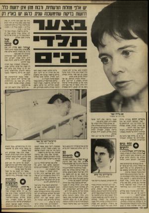 העולם הזה - גליון 2659 - 17 באוגוסט 1988 - עמוד 18 | ש אלב מחרות תורשתיות, וובות מהן אינן וועות נלד. וחשות בדקות שתימשננה שנים. נוגע יש בארץ וק גילה של האם בזמן הלידה. רק אחת מכל 1800 נשים בגיל 20 תלד תינוק