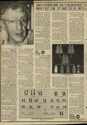העולם הזה - גליון 2659 - 17 באוגוסט 1988 - עמוד 19 | נו וקבוע מואש אם נר ש בו חובש מהמחלות הידועות, 4בדיקות, ולא נולן ניתנות לכל. שרה ליבוביץ מדווחת קרתה תופעה הפוכה. מיספרן עלה. בשבועות האחרונים אני אף נאלצת