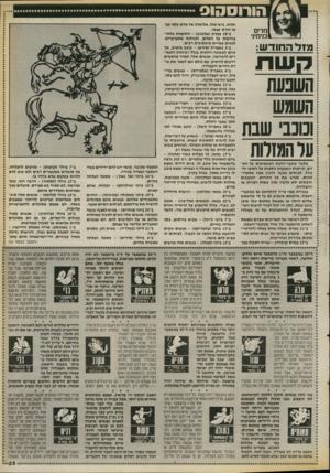העולם הזה - גליון 2674 - 30 בנובמבר 1988 - עמוד 29 | הורוסהוס מלבד בובבי״הלכת המשפיעים על הא דם, קיימות השפעות נוספות על האופי וה גורל. לעיתים אפשר להכין מפה אסטרו לוגית, לפרש את כל הזוויות, הכוכבים והבתים ולא