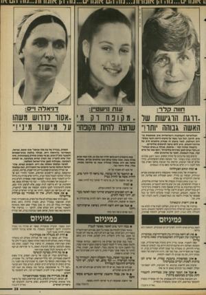 העולם הזה - גליון 2688 - 8 במרץ 1989 - עמוד 39   חווה חלד : 11111 !ו־ שט״ן: ד ני אלהו״ ם: ״דרגת הוגישות של, מסופח וק מ׳ ,.אסור רוווש משהו האשה גבוהה ׳ותור שחצה להיות מקופח!״ על מישור מיני!״ הפוליטיקה והעטקנות