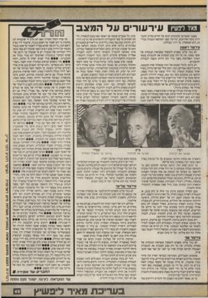 העולם הזה - גליון 2715 - 13 בספטמבר 1989 - עמוד 49 | מאיו ליפשיץ עירעורים על ה מצב מצבנו המעורער בתחומים רבים של החיים מחייב התעוררות נוכח האירועים, ועירעור בפני הערכאה הגבוהה במדינה, היא הממשלה, על דרכי פעולתה.