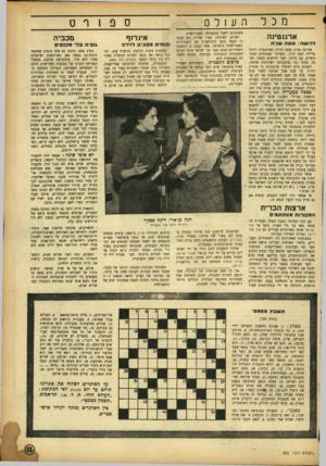 העולם הזה - גליון 802 - 12 במרץ 1953 - עמוד 15 | מכלהעולס ארגנטינה דרו ש ה: אשה שניה אווימה פרון, אשת הרודן הארגנטיני, היתד, אלילת העם כולו, ובעיקר האיגודים המקצועיים. עם מותה, לפני חודשים מספר, הפכה בעיני