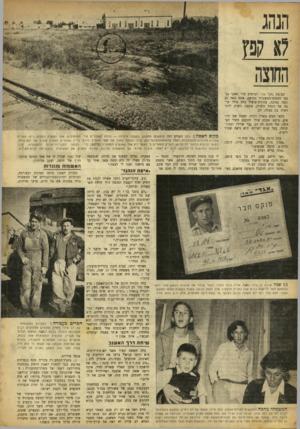 העולם הזה - גליון 894 - 2 בדצמבר 1954 - עמוד 4   הנהג לא קפץ החוצה קבוצת נהג־ אגד לבושים מוי חאקי נכנסו לתחנת־המשטרד. בחיפה. אתם באה גם אשד, נמוכה, בהירת־שיער. בלה טילו קרבה אל הסמל התורן, בקשה רשות להתראות